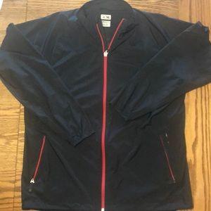 Adidas Rain Jacket Black/Red Med.